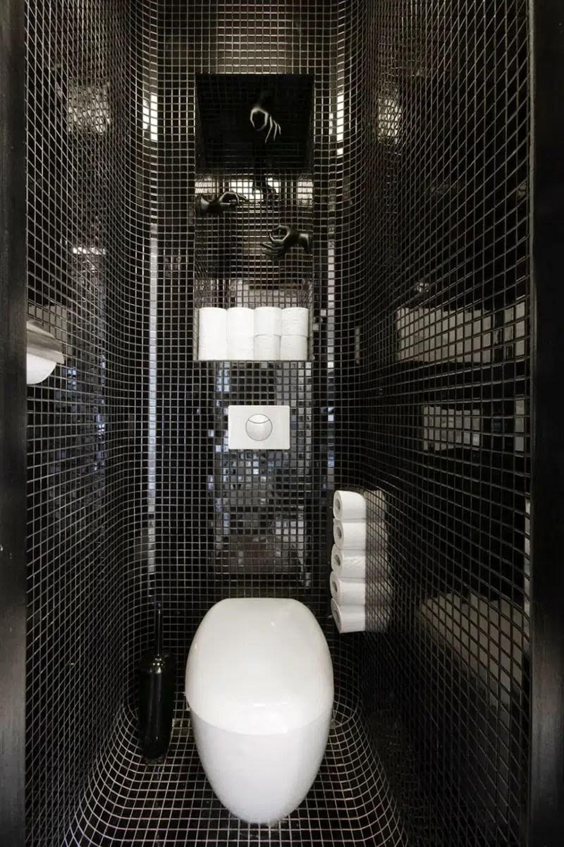 10 Ides Dco Salles De Bain Noir Et Blanc Contemporaines
