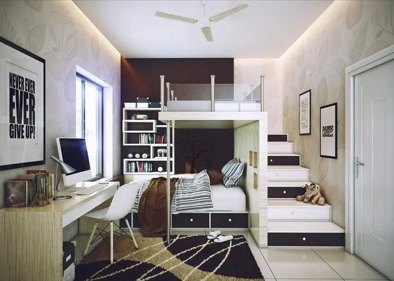 Chambre Loft Ado - Décoration de maison idées de design d\'intérieur ...