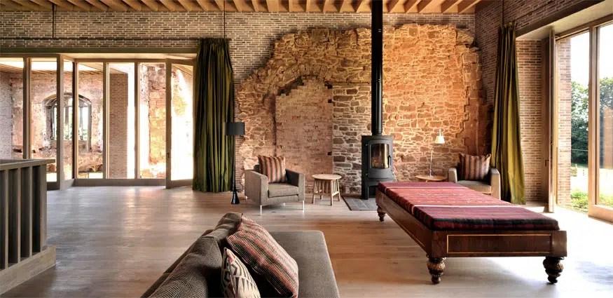 Transformation dun manoir fortifi en maison moderne