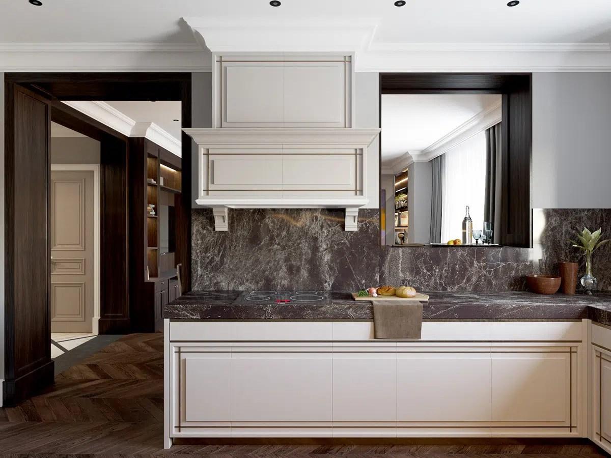 plan de travail en marbre pour cuisine