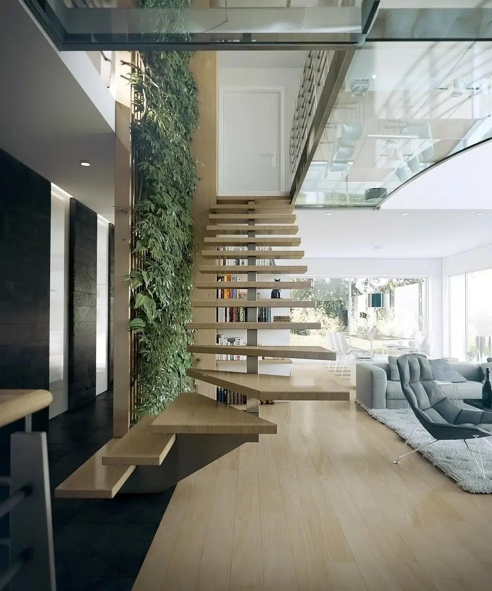 25 ides descaliers muraux design pour votre intrieur