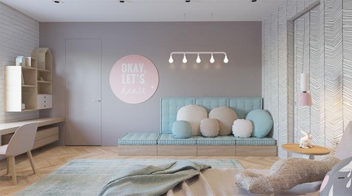 chambre enfant couleurs pastels
