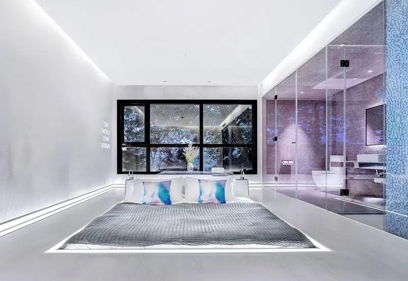 Des Chambre Design Avec Un Lit Incrust Dans Le Sol Au