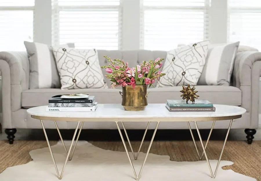 table basse dans votre salon
