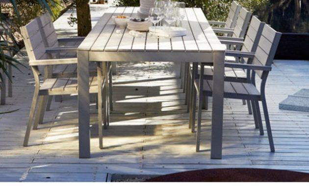 Ikea Table Jardin En Aluminium Agencement De Jardin Aux