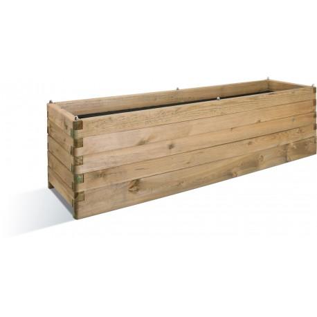 jardiniere en bois rectangulaire olea 180 x 50 x 50 cm