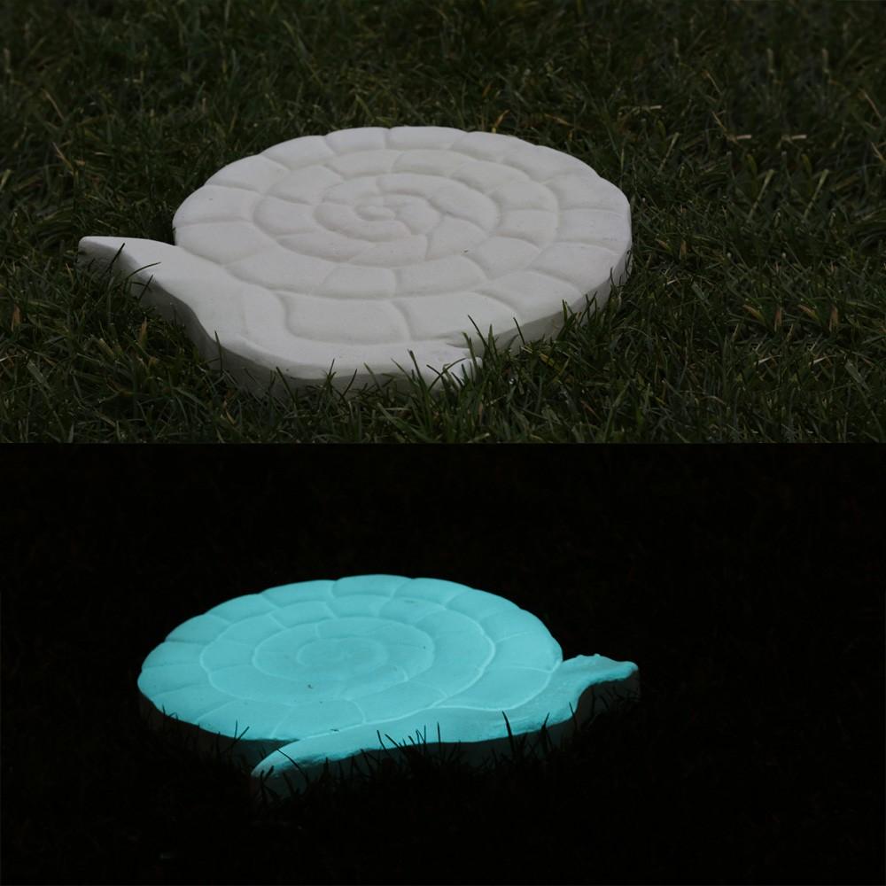 Pas Japonais de jardin en Pierre Reconstitue Luminescent Escargot