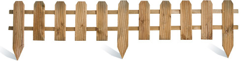bordure bois petite cloture