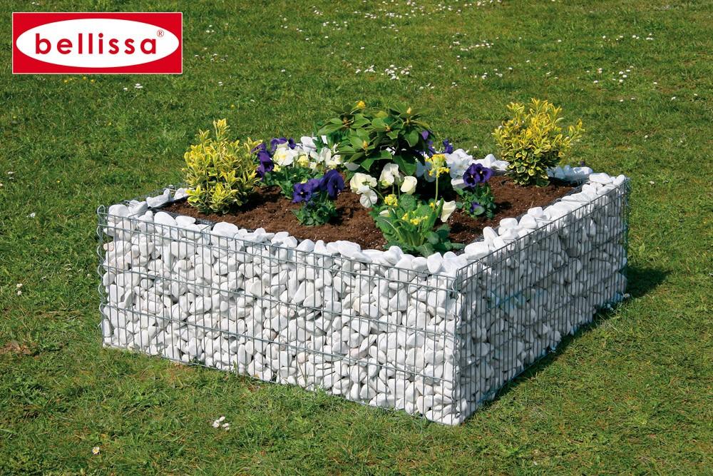jardinière gabion carrée