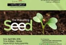 Fresh Oil Seminar April Edition 2016 - The Prevailing Seed [www.AmenRadio.net]