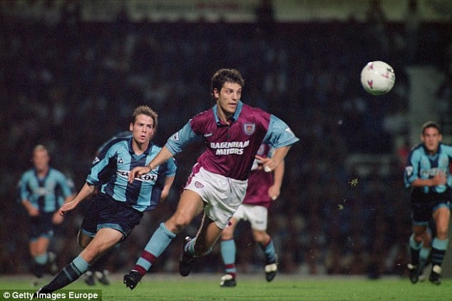 Slaven Bilic in action for the east london soide in the 1990s [www.AmenRadio.net]