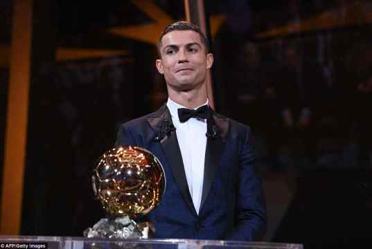 Cristiano Ronaldo wins the Ballon d'OR for the fifth time [www.AmenRadio.net]