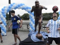 Lionel Messi statue unveiled in 2016 [wwwAmenRadio.net]