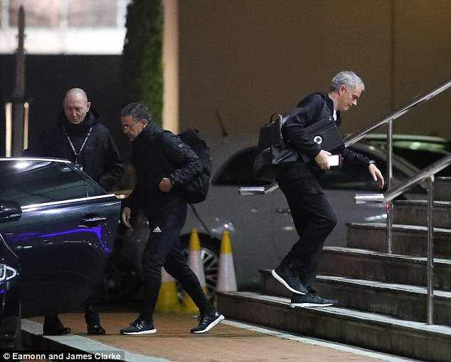 Jose Mourinho makes his way into hotel [www.AmenRadio.net]
