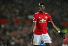 Paul Pogba in action for Manchester United [www.AmenRadio.net]