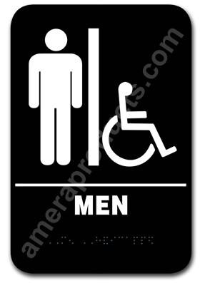 Restroom Sign Handicap Men Black 5302 EP5302