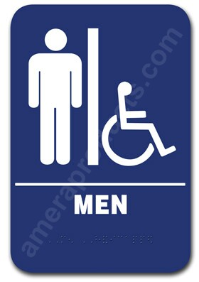 Restroom Sign Men Handicap Blue 1502 EP1502
