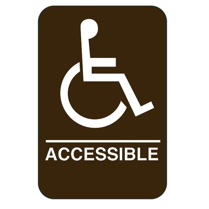 handicap sign brown 3810