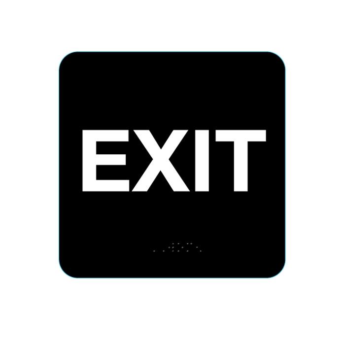Exit Sign Black 5311 EP5311