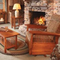 Craftsman Style Chairs Reclining Chair With Ottoman Canada Mission Upholstered Furniture In Oak Maple Or Cherry