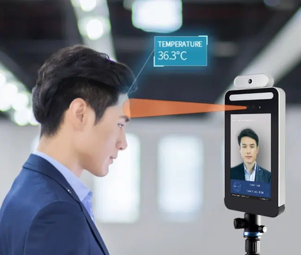 biometrico termometro infrarojo