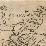 Old world 1597 Map of Granada land