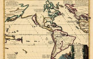 Old World 1661 Sanson map of the Atlantis Insula