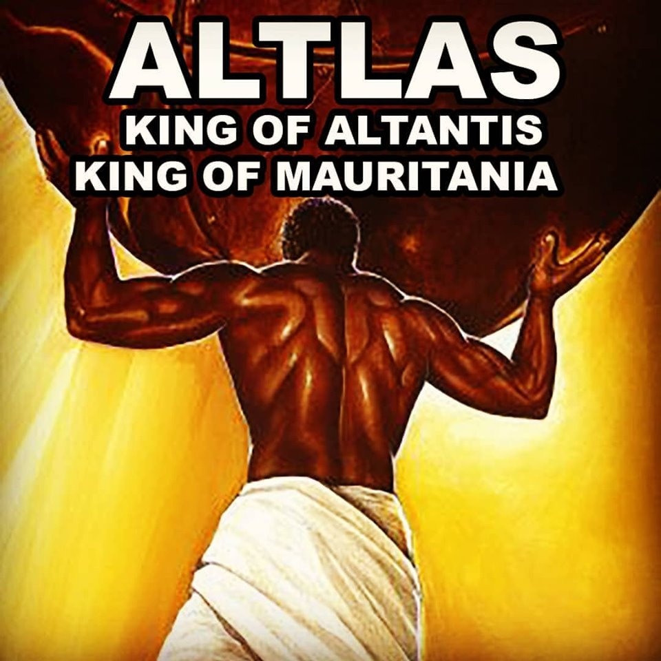 Old World King Atlas - King of Atlantis and Mauritania