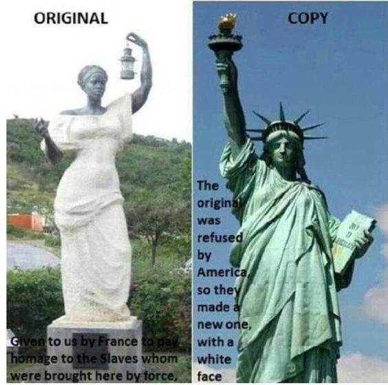 The real Statue of Liberty