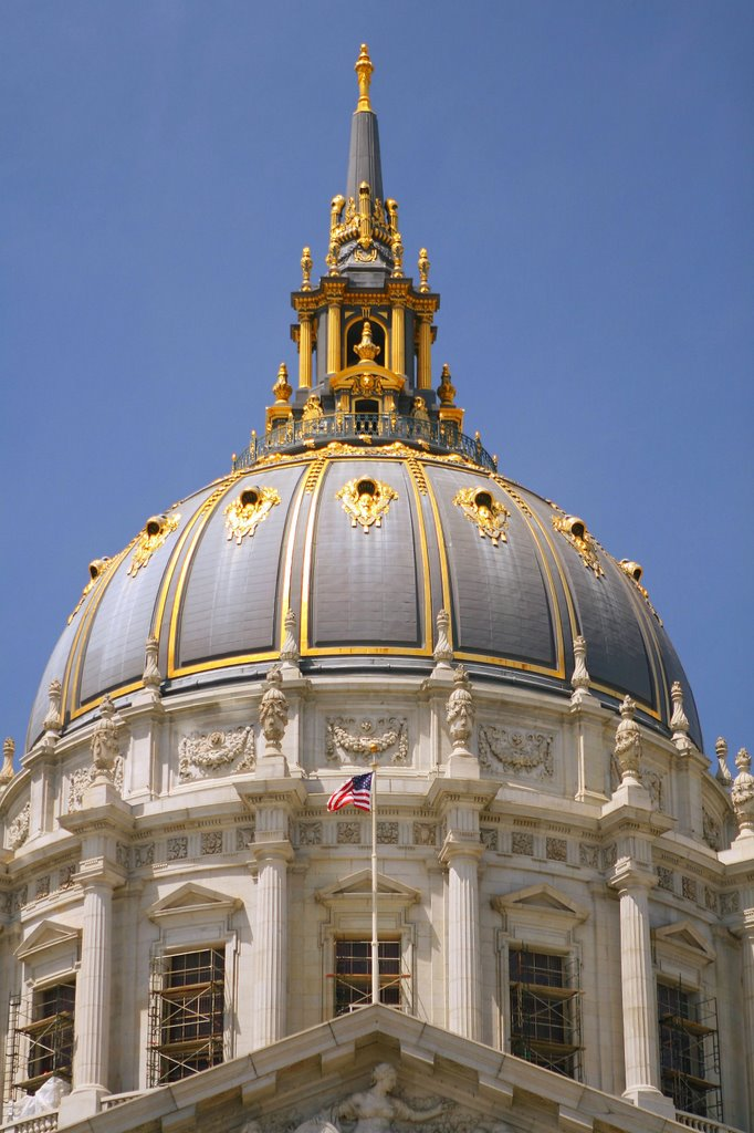 Dome top of San Francisco Bey City Hall