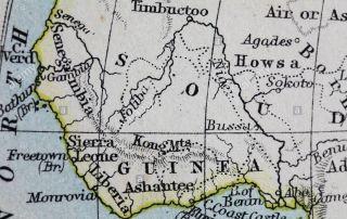 Old World map of Guinea (Ghana)
