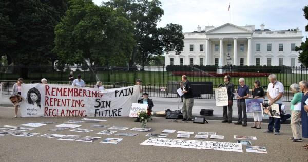Peacemakers White House Vigil Urge U. Empty