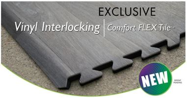 comfort flex interlocking vinyl trade show tiles