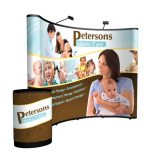 10ft curved show n rise pop up display