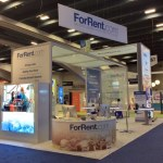 Custom Trade Show Rental Booth with plenty of room for your trade show staff!