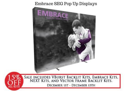 Embrace Seg Pop Up Displays