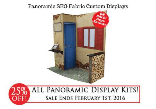 Panoramic SEG Fabric Custom Displays