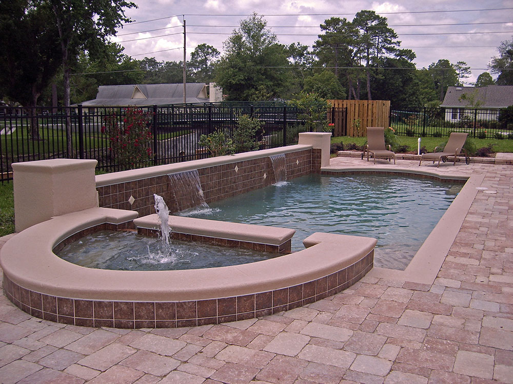 Swimming Pools with Water Feature Design Ideas