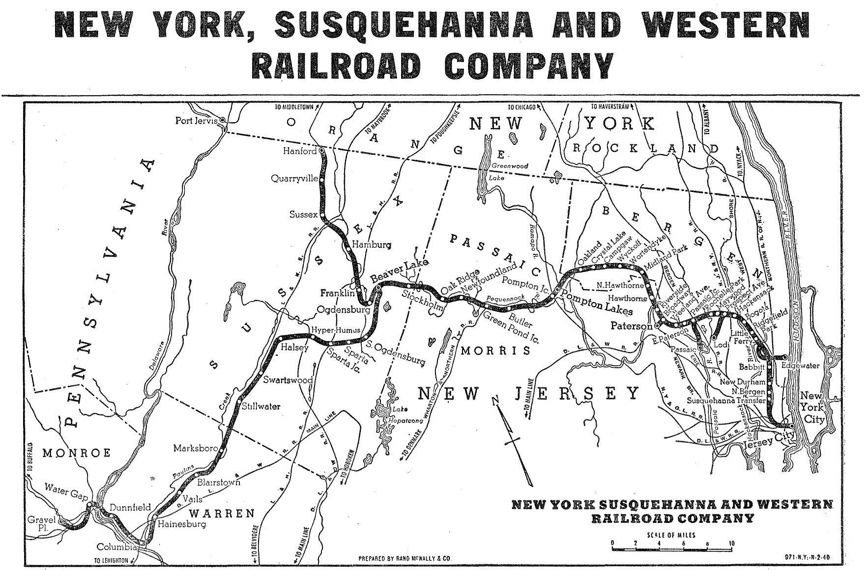 New York Susquehanna And Western Railway