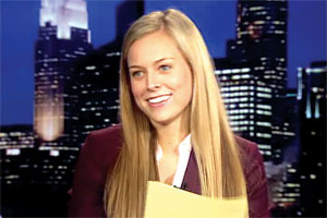 Jamie Erdahl Has Her Eye on a Sports Broadcasting Career
