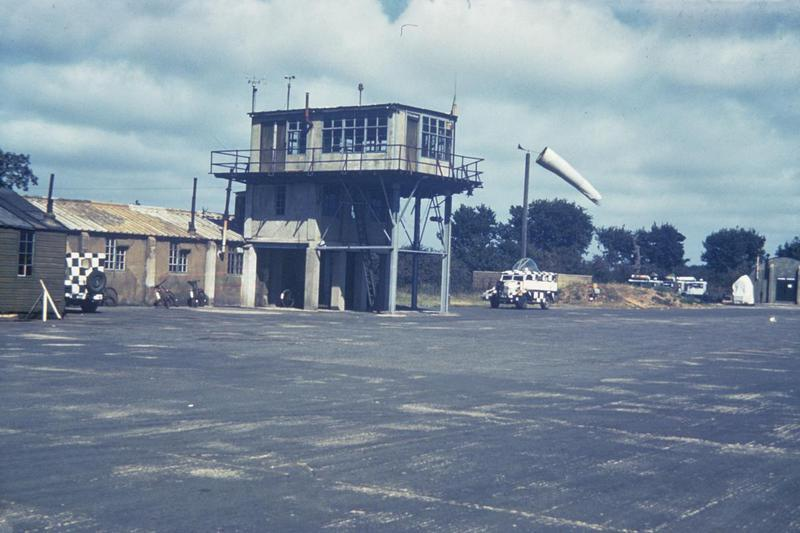 The Control Tower of the 359th Fighter Group at East Wretham. Caption on reverse: 'Caption on reverse: '359th FG Photos Source: T.P. Smith via Char Baldridge, Historian Description: #13 Control Tower at Station F-133, East Wretham, England.'