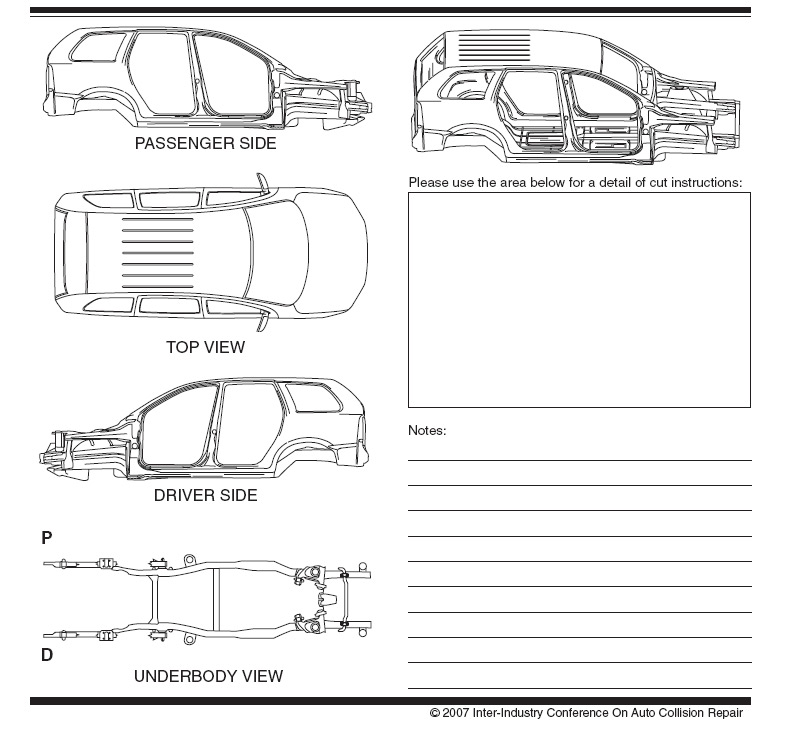 commuter van damage inspection diagram 7 pin knorr wabco trailer cable vehicle repair