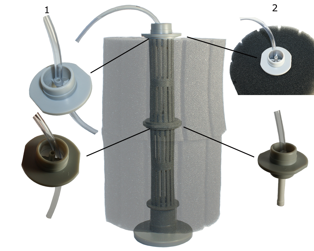 hight resolution of hydro pond sponge filter 2 with airline