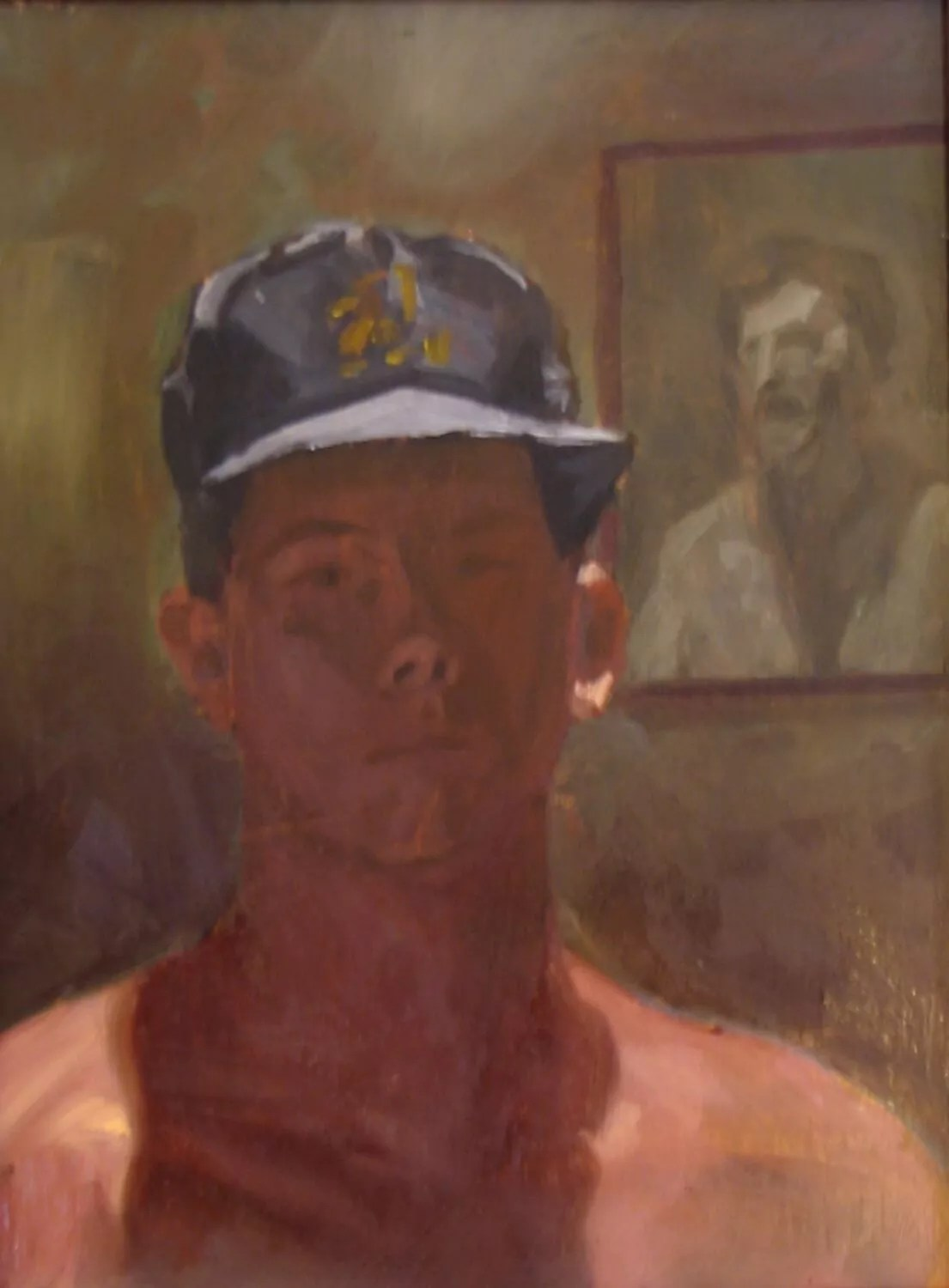 Self-Portrait with Kingsley
