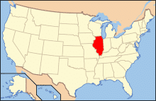Map of USA Illinois Auto Transport To & From Illinois (IL)