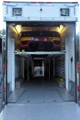 enclosed stacking auto transport trailer
