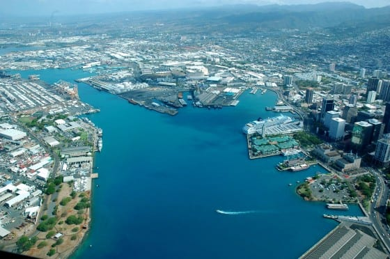 shipping port inOahu Hawaii