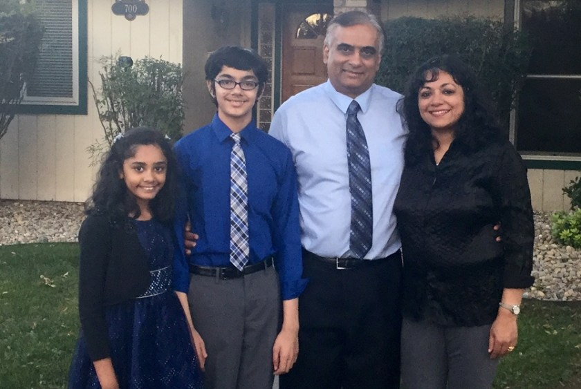 The Abraham family. From left to right: Tiara, Tanishq, Bijou and Taji Abraham.