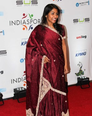 Krishanti Vignarajah, Policy Director to First Lady Michelle Obama, at the Indiaspora gala held at Marriott Marquis in Washington, DC, on January 3, 2017. Photo credit: The American Bazaar