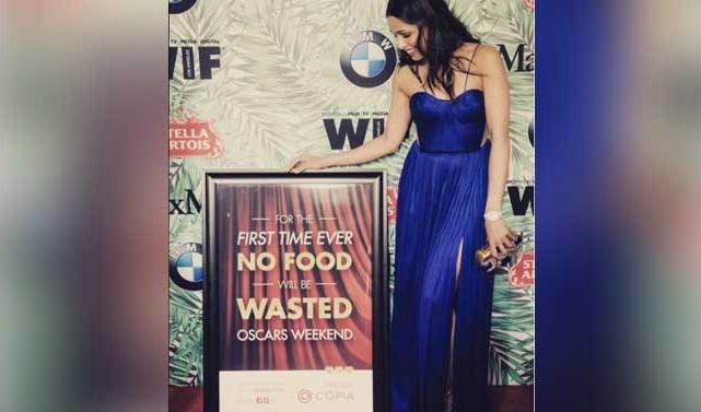 Freida Pinto's initiative feeds hundreds with leftover ... Freida Pinto Instagram